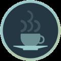 Icon mit Kaffeetasse