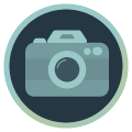 Icon mit Kamera