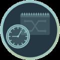 Icon mit Uhr und Kalender